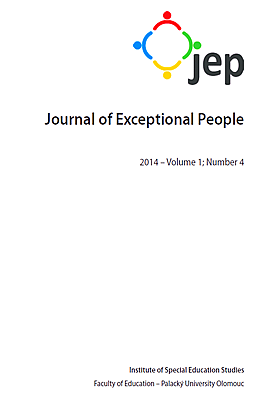 Journal of Exceptional People 2014 – Volume 1; Number 4