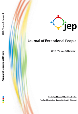 Journal of Exceptional People 2012 – Volume 1; Number 1