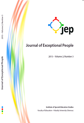 Journal of Exceptional People 2013 – Volume 3; Number 3